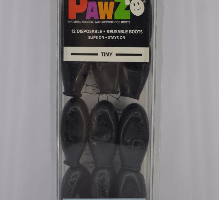 12 darabos fekete vízálló gumi kutyacipő szett 1