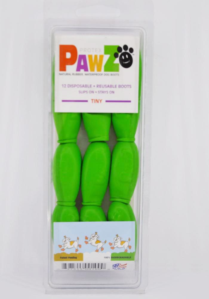 12 darabos zöld vízálló gumi kutyacipő szett 1