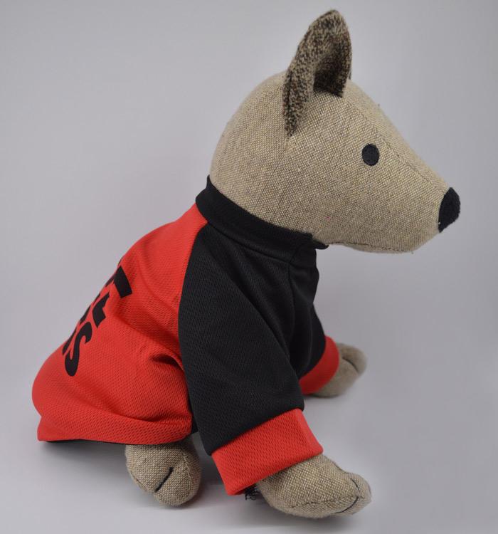 Ingyen ölelés piros légáteresztős kutyapulcsi 2