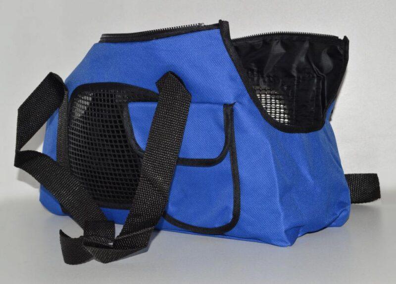 Kék mosható vászon kutyahordozó táska 1