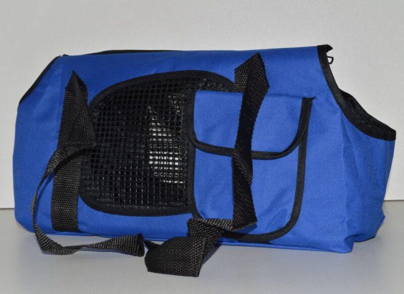 Kék mosható vászon kutyahordozó táska 2