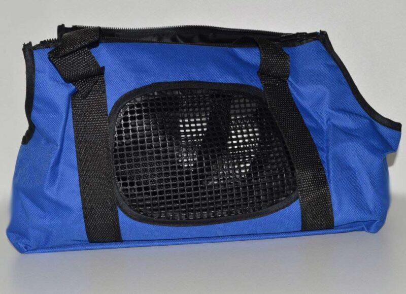 Kék mosható vászon kutyahordozó táska 3