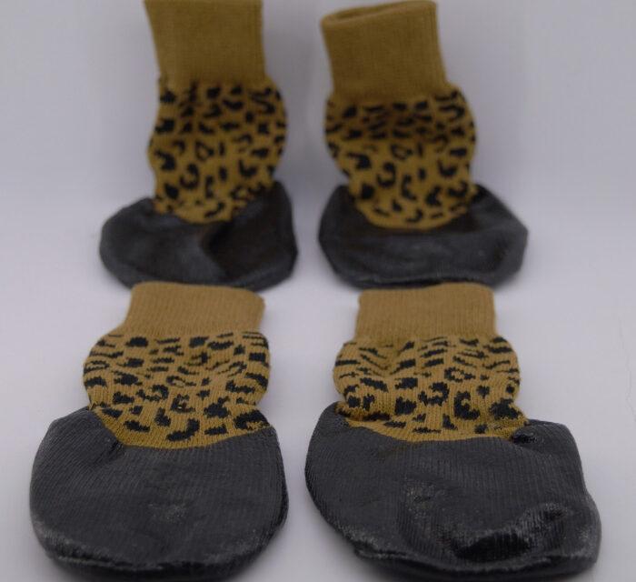 Leopárd mintás vízálló kutyacipő 1