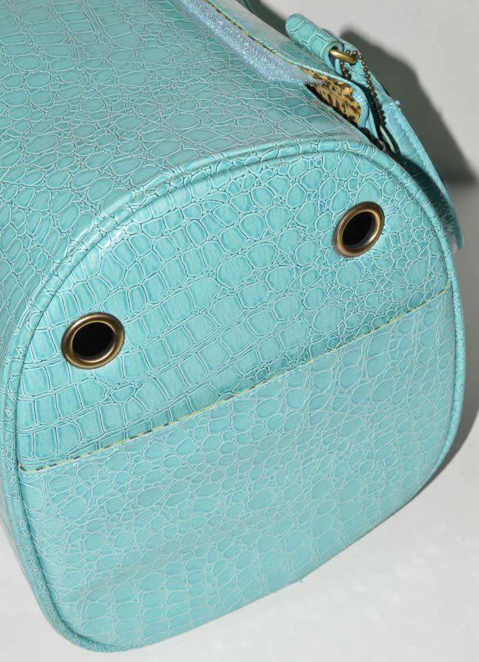 MEnta lakk kigyóbőr mintás kutyahordozó táska 3