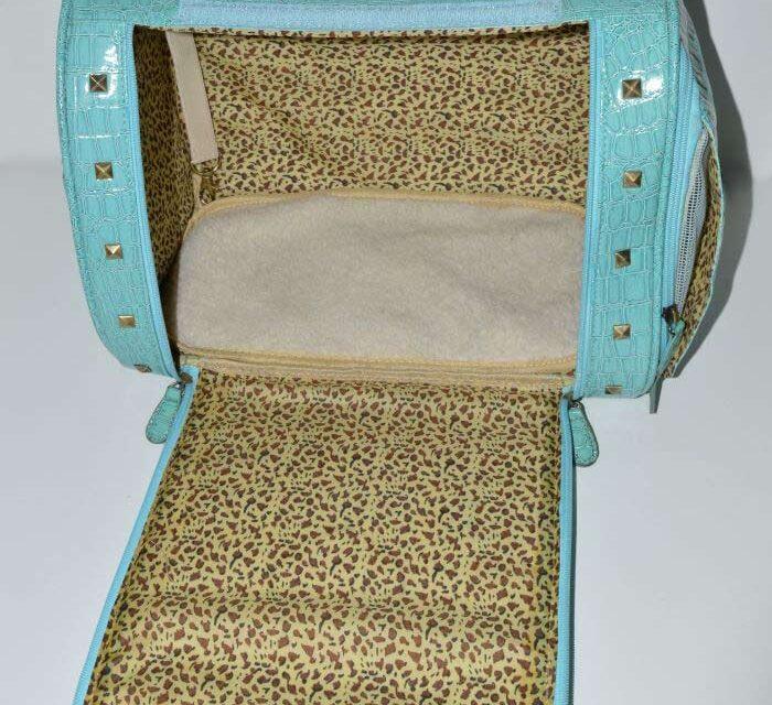 MEnta lakk kigyóbőr mintás kutyahordozó táska 4
