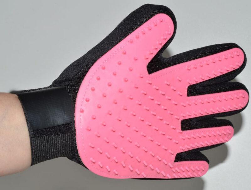 Pink kutya fésű kesztyű és masszírozó 1