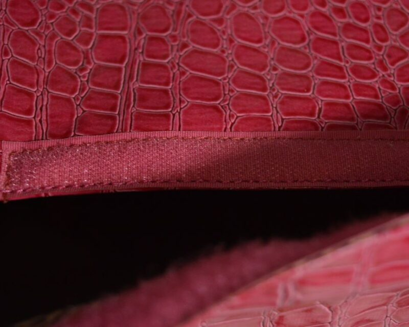 Pink lakk kigyóbőr mintás kutyahordozó táska 5