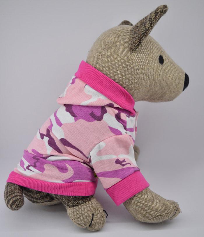 Pink terepmintás lányos kutyapulcsi kutyaruha 1