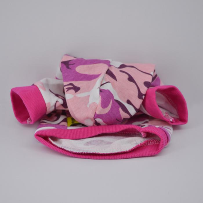 Pink terepmintás lányos kutyapulcsi kutyaruha 2