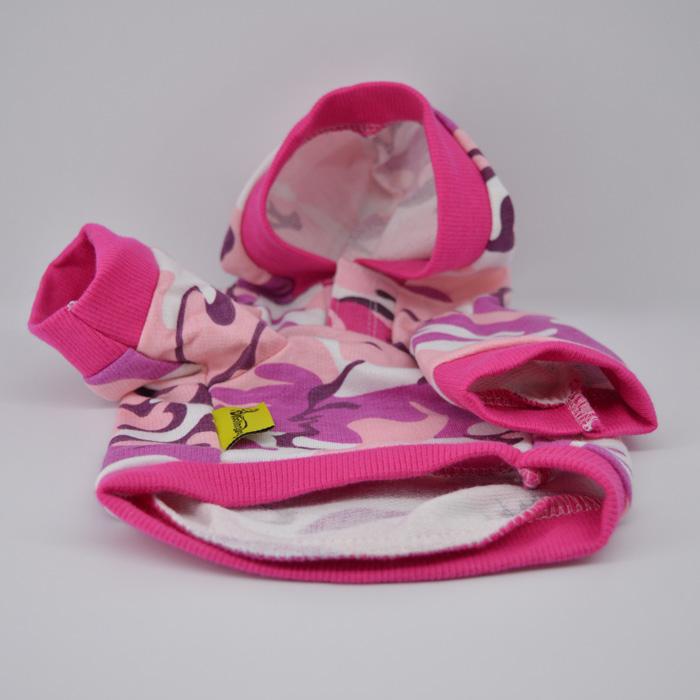 Pink terepmintás lányos kutyapulcsi kutyaruha 3