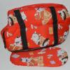 Piros kutya mintás mosható kutyahordozó táska 1