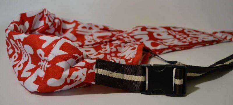 Piros vászon kutyahordozó testtáska 5