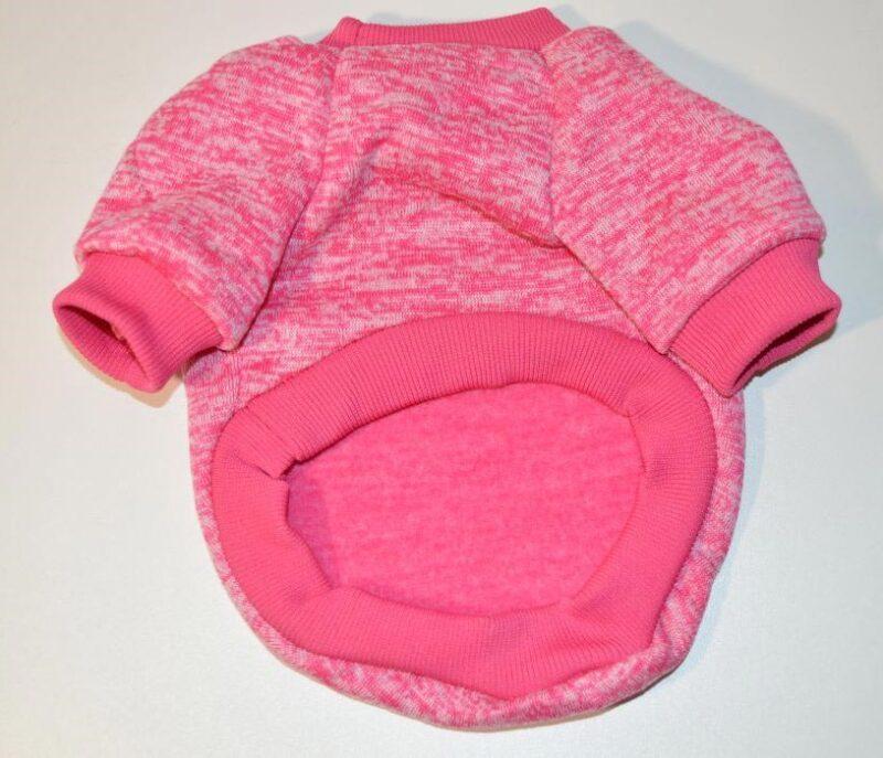 Rózsaszín bélelt kutyaruha 4