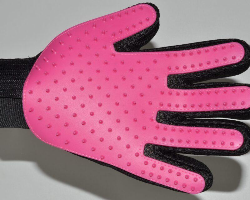 Sötét pink kutya fésű és masszírozó 1