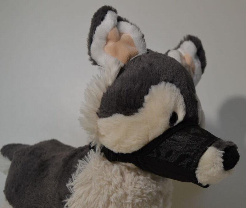 Textil kutya szájszíj fekete 1