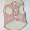 Xs rózsaszín gyapjú kutyamellény 4