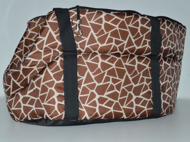 Zsiráf mintás mosható kutyahordozó táska 1
