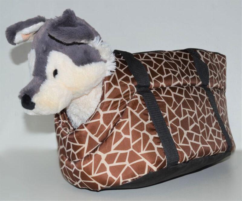 Zsiráf mintás mosható kutyahordozó táska 2