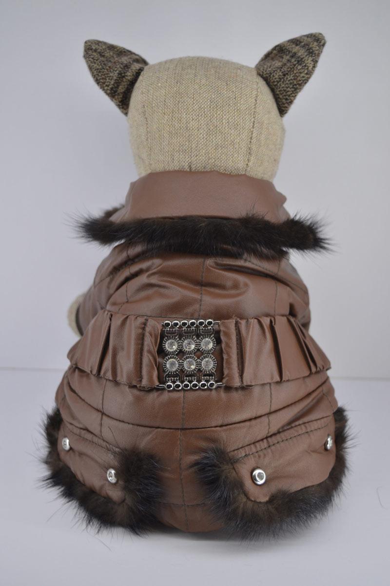 Alkalmi barna műbőr kutya overál kőberakással 1