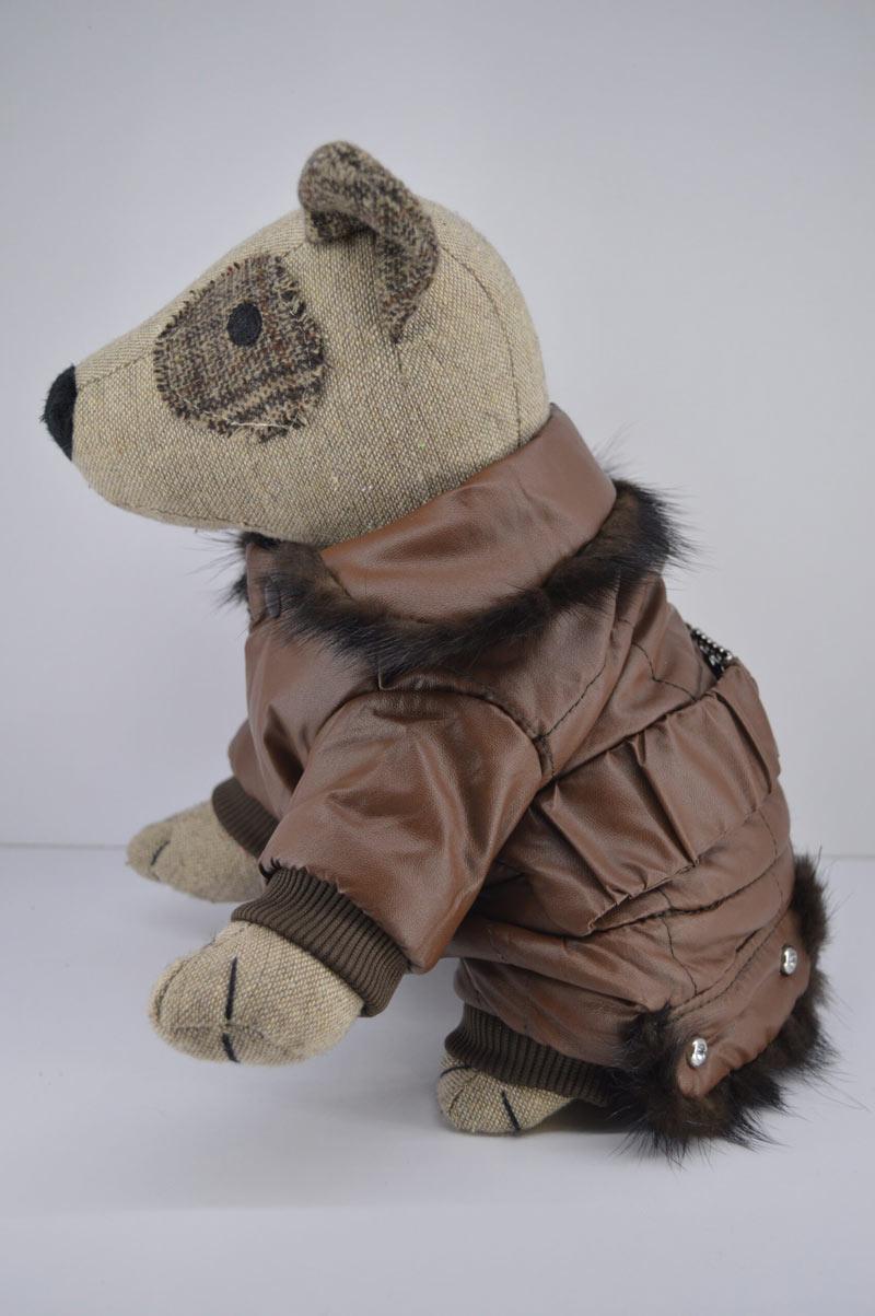Alkalmi barna műbőr kutya overál kőberakással 3
