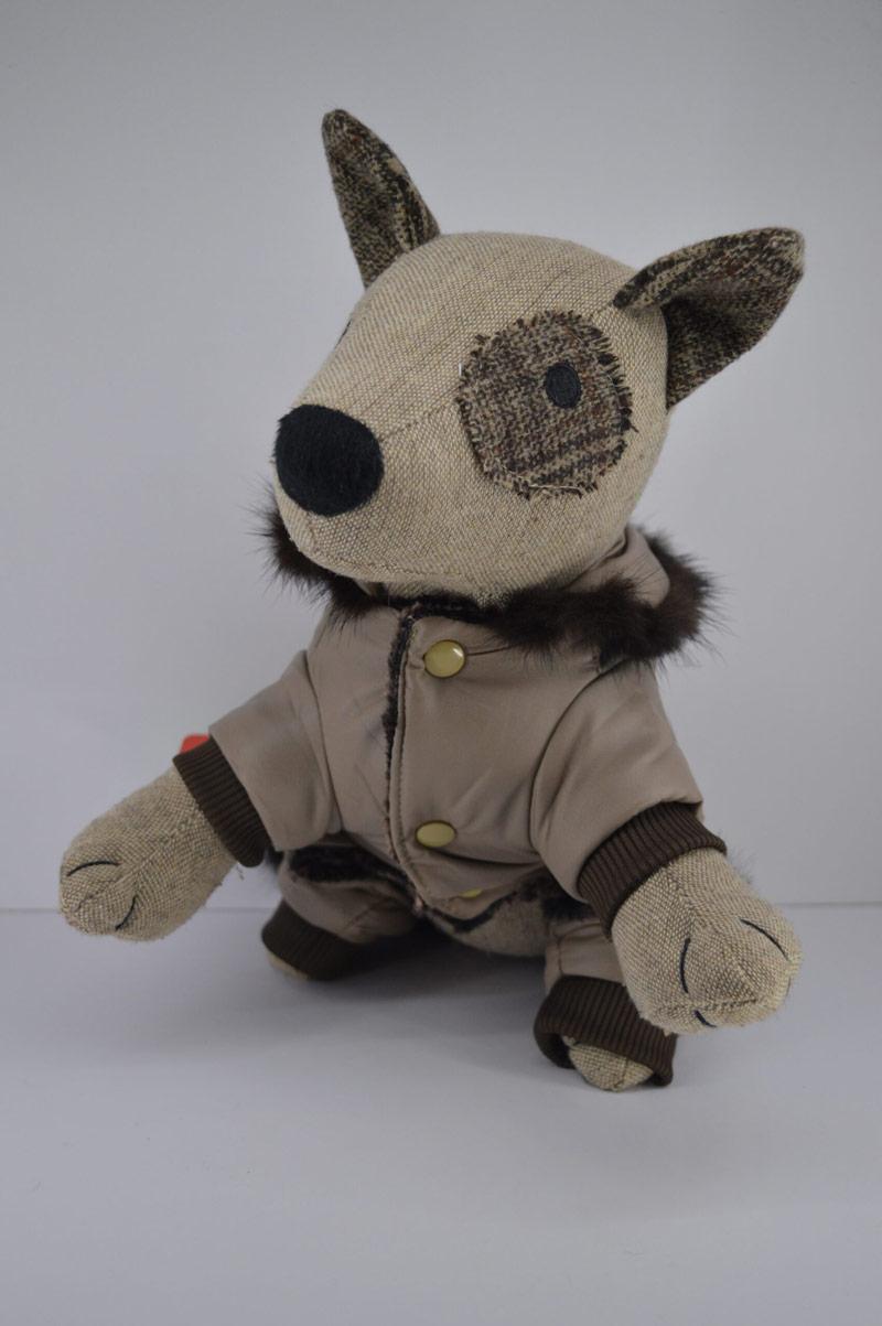 Alkalmi műbőr kutya overál kőberakással 5