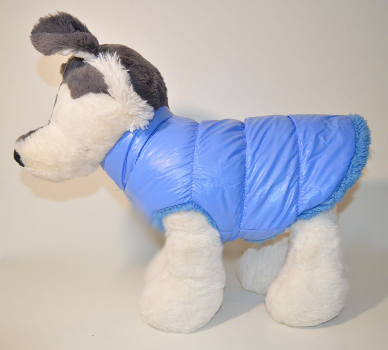 Babakék pufi téli kutyaruha kutyamellény 1