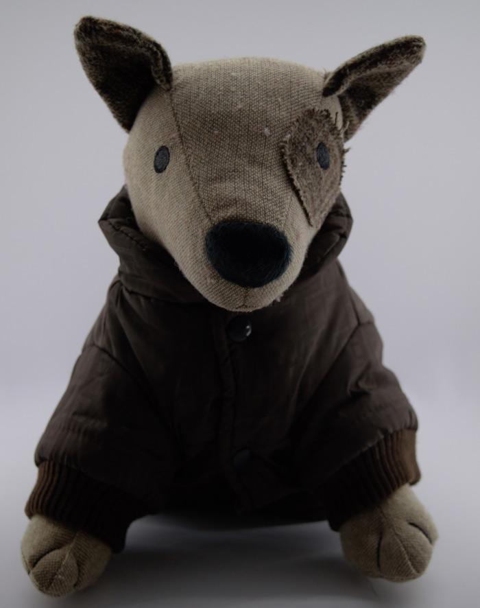 Bélelt barna téli kutyakabát 2