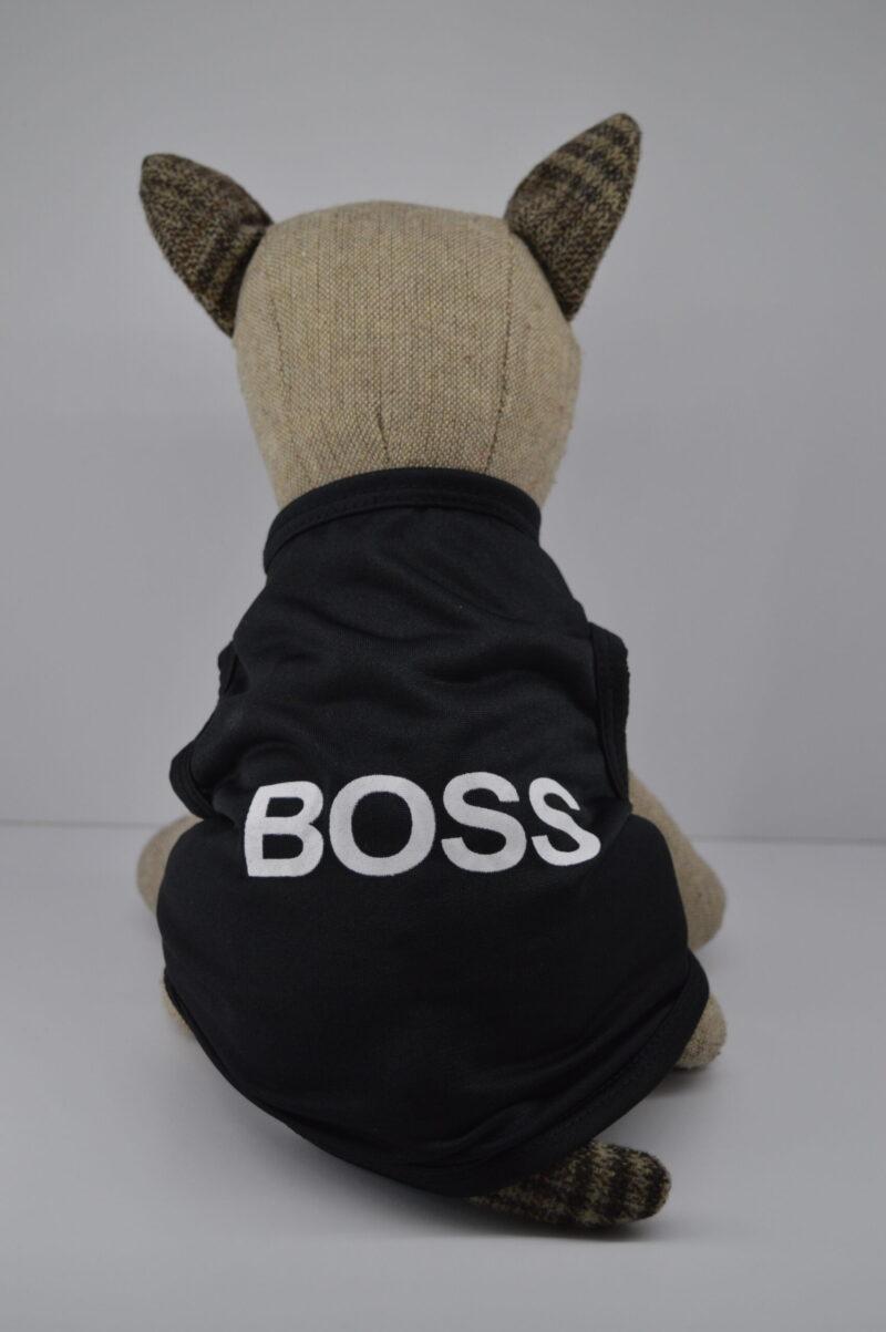 Boss feliratú fekete kutya póló 1