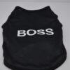Boss feliratú fekete kutya póló 2