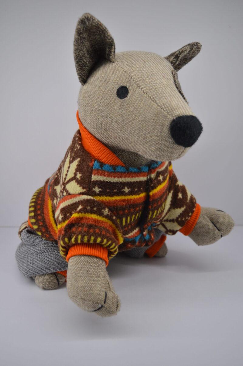 Csillagmintás kötött kutyaruha 2