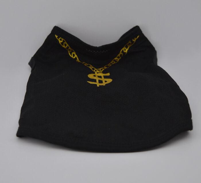 Dollár mintás fekete kutya póló 1