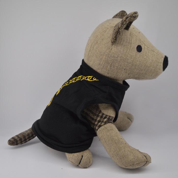 Dollár mintás fekete kutya póló 2