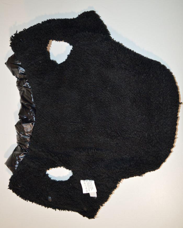 Fekete pufi téli kutyaruha kutyamellény 3