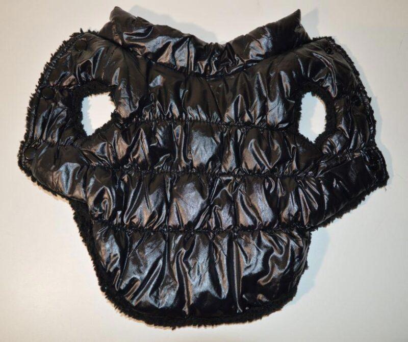 Fekete pufi téli kutyaruha kutyamellény 4