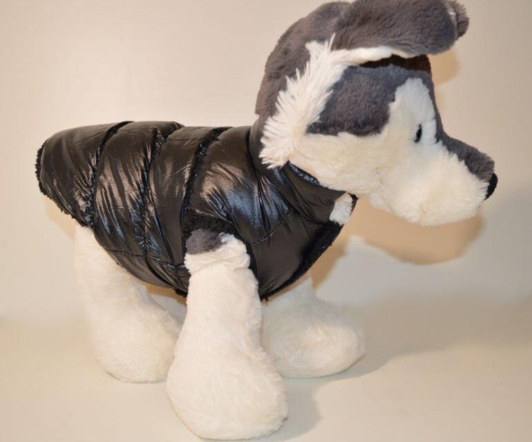 Fekete pufi téli kutyaruha kutyamellény 5