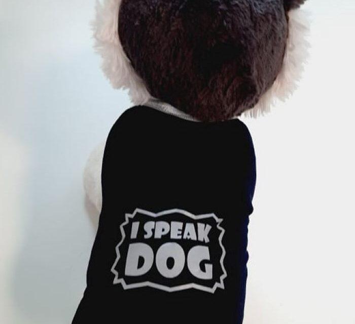 I speak dog kutya póló 1