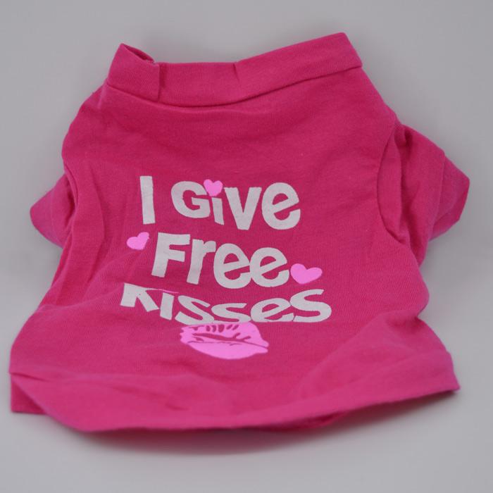 Ingyen puszi feliratos pink kutya póló 1