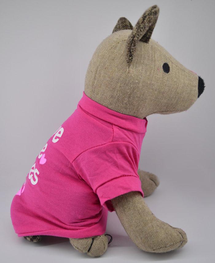 Ingyen puszi feliratos pink kutya póló 3