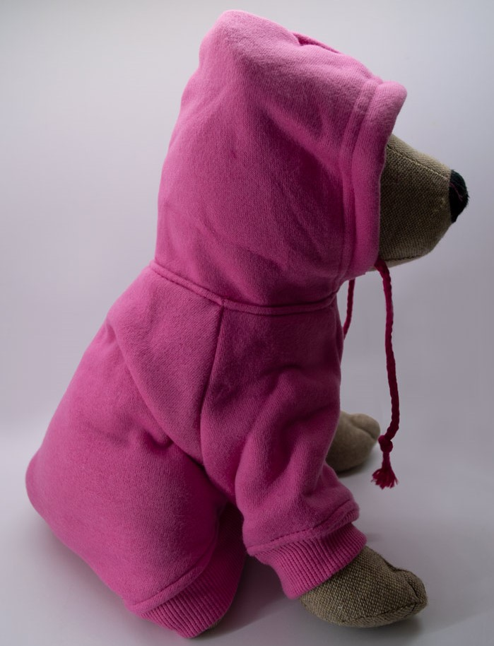 Kapucnis pink kutyapulóver 1