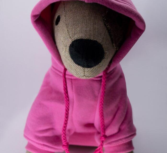 Kapucnis pink kutyapulóver 2