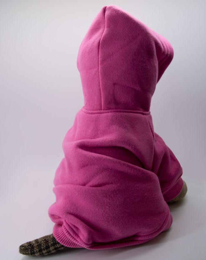 Kapucnis pink kutyapulóver 3