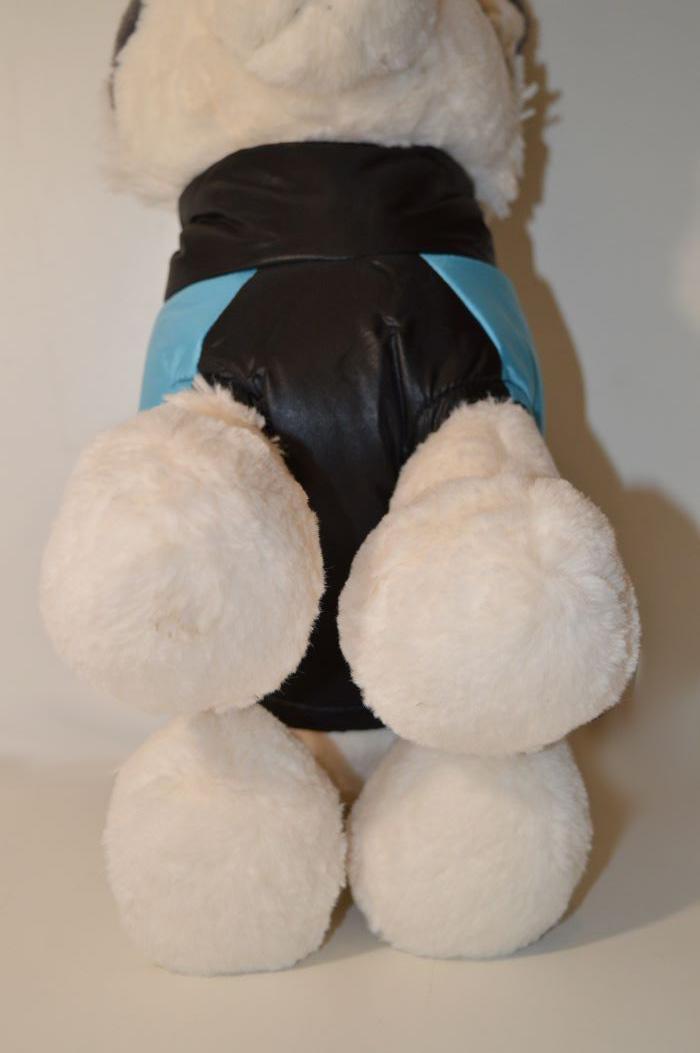 Kék csíkos kutyamellény 3