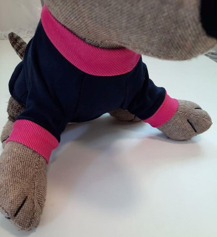 Kék kutyapulcsi pink masnival 2