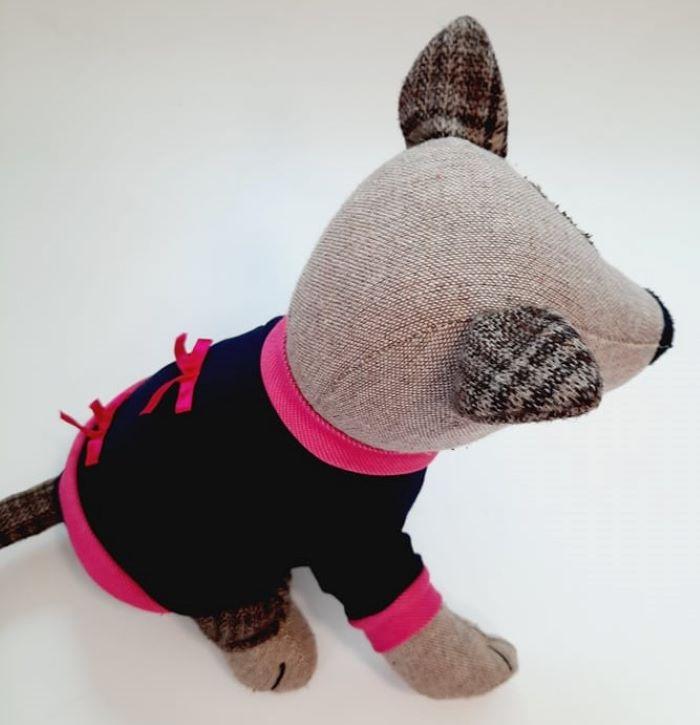 Kék kutyapulcsi pink masnival 3