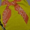 Kendő mintás citrom kutya póló 2