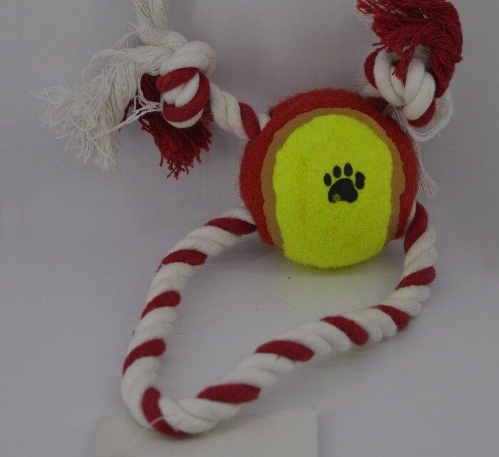 Kötél kutya játék labdával 2jatek-labdaval-2