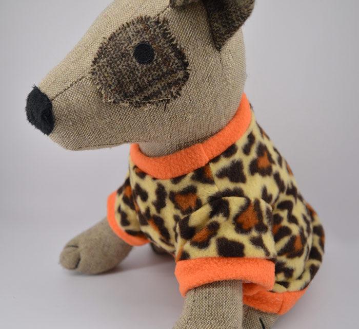 Leopárd mintás kutyapulóver 1
