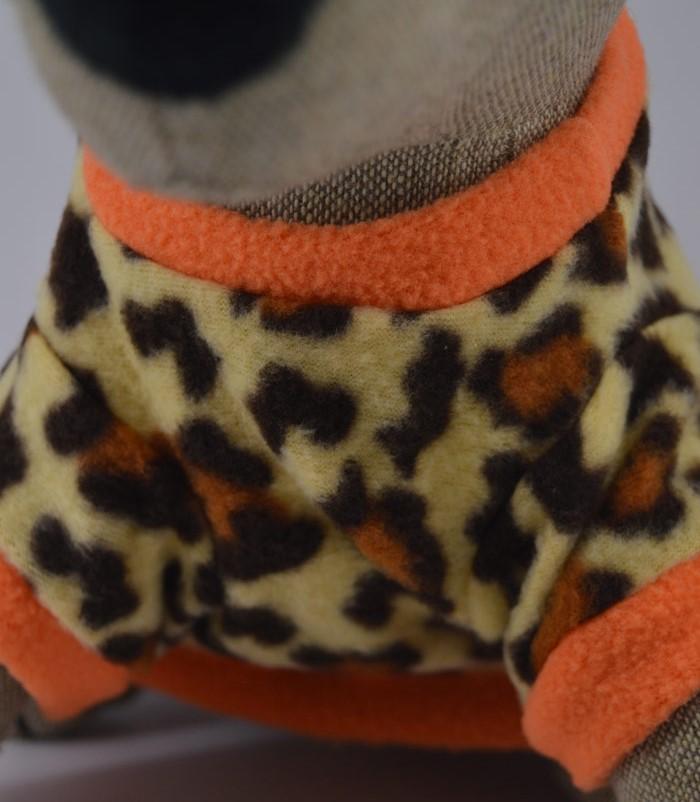 Leopárd mintás kutyapulóver 4