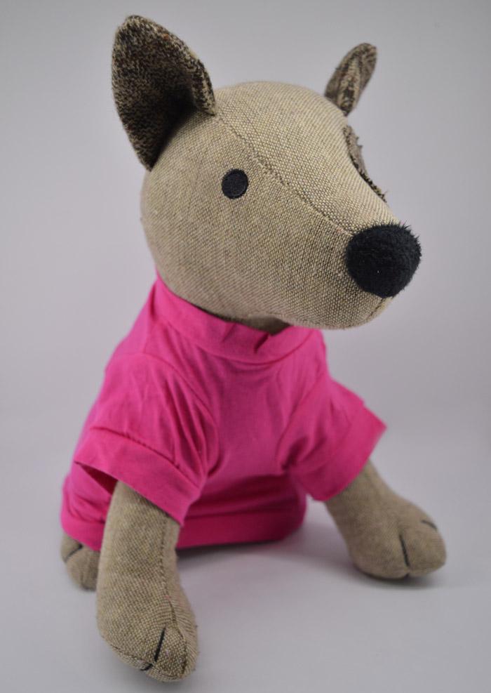 Nyalóka mintás pink kutya póló 2
