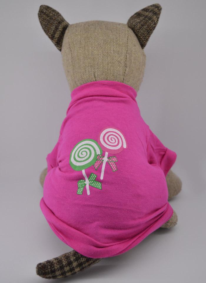 Nyalóka mintás pink kutya póló 3